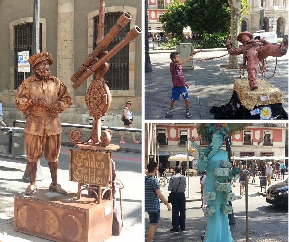 אסנת חן - פסלים חיים ברצלונה