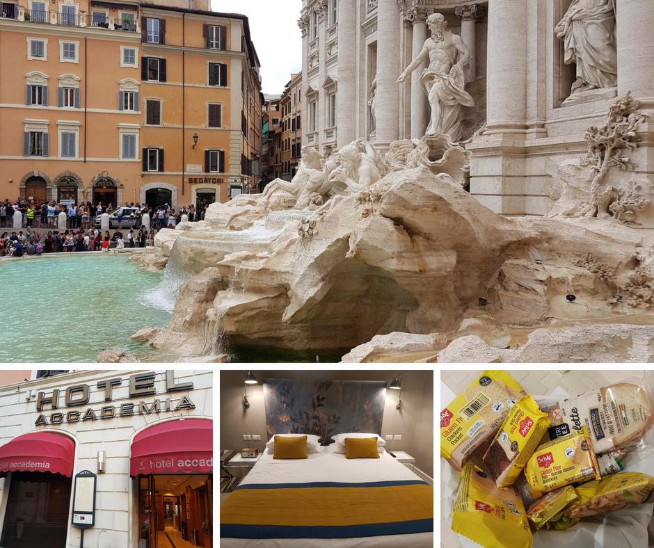 אסנת חן - מלון אקדמיה ומזרקת טרווי ברומא