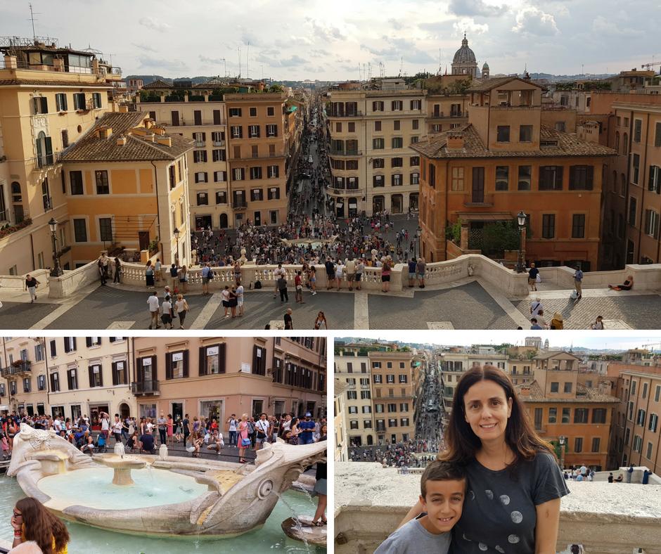 אסנת חן - המדרגות הספרדיות ברומא